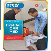 Schedule your Heartsaver first aid CPR AED class by Star CPR, located in San Diego California.